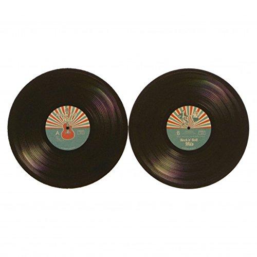 Das 48er Set Schallplatte Rock n Roll Vinyl Bierdeckel aus Pappe
