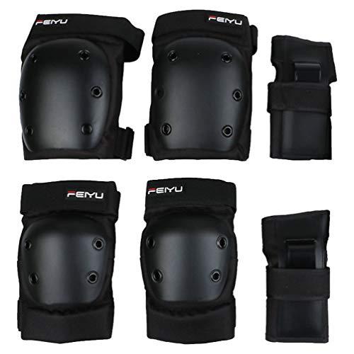 Joelheiras protetoras de skate IMIKEYA, cotoveleiras, protetores de pulso para adultos, esportes ao ar livre, skate, bicicleta, rolo, 6 peças, tamanho M, 40-60 kg