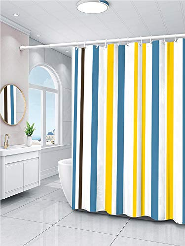 Shower Curtain, Waterproof Polyester Bath Tent, Hotel 3D Mildew Shower Curtain, Simple Striped Shower Curtain,Ad-02,150X180Cm