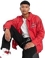 メニス ジャケット メンズ Mennace varsity windbreaker jacket in red with motocross back print/UK XS (日本のM相当) 107c [並行輸入品]