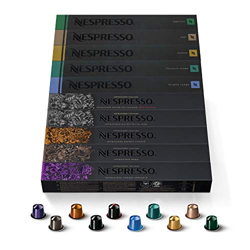 Nespresso Capsules OriginalLine, Ispirazione Espresso Variety Pack, Medium Roast Espresso Coffee, 100 Count Espresso Coffee Pods ,Brews 1.35 oz