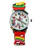 Kinder-Armbanduhr mit Cartoon-Motiv, niedliche Quarzuhr für Jungen und Mädchen, mit Stoffband, für Studenten, Armbanduhr Geschenke H9