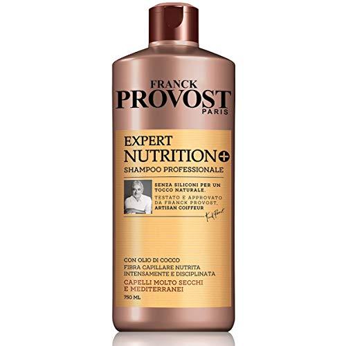 Franck Provost Shampoo Professionale Expert Nutrition +, Shampoo con Olio di Cocco per Capelli Nutriti e disciplinati, 750 ml, Confezione da 1