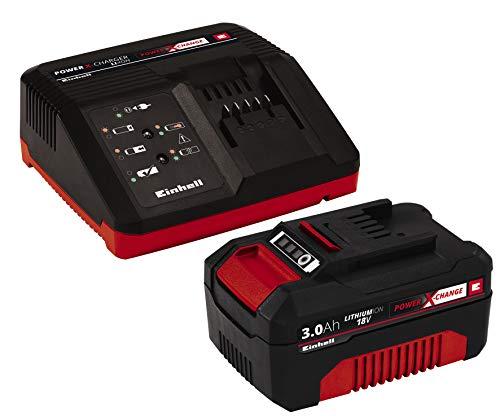 Original Einhell Starter Kit Akku und Ladegerät Power X-Change (Lithium Ionen, 18 V, 3,0 Ah Akku und Schnellladegerät, passend für alle Power X-Change Geräte)