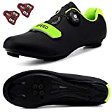 DisPlay Men's Road Bike Riding Shoes Women Indoor Cycling Exercise Shoes Collocation Cleats Compatible Cleats SPD/SPD-SL for Lock Pedal Bike Men Shoes Black