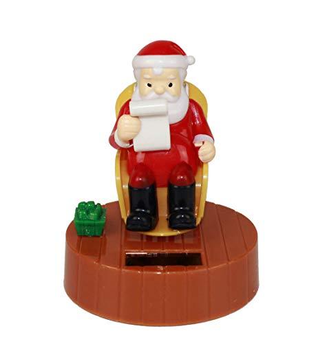 HAAC Solar Wackelfigur Wackelweihnachtsmann Nikolaus Weihnachtsmann 10 cm Weihnacht