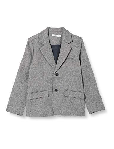 NAME IT Jungen NKMROYAL Lässiger Blazer, Grey Melange, 140