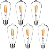 LEDERA ST64 Vintage LED Edison Bulbs Dimmable,...