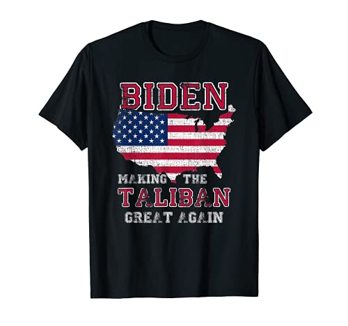 Biden Making the Ta-li-ban 's Great Again Bandera Americana Meme Camiseta