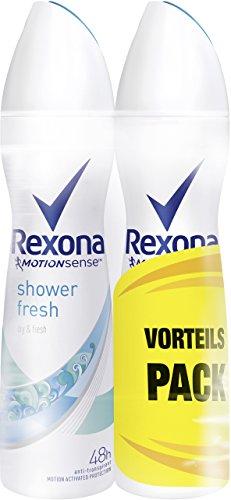 Desodorante en spray Rexona Shower Fresh Anti-Transpirant, dos unidades (2 x 150ml)