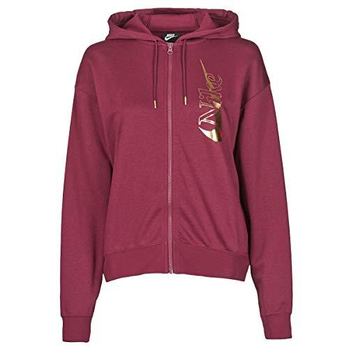 Nike W NSW ICN Clsh Fz FLC Jogging & Sportbekleidung Damen Bordeaux - S - Trainingsjacken
