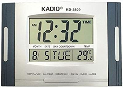 ZESI Kadio Wall Cum Desk Clock with Temperature Display KD-3809