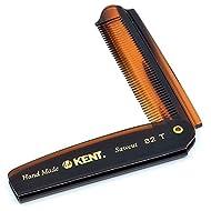 Kent - The Handmade Comb Gentleman's Folding Pocket Comb Sawcut 82T 2-Pack