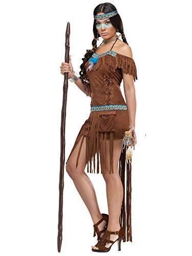 Unbekannt Indianerinnen Kostüm für Damen braun M / L