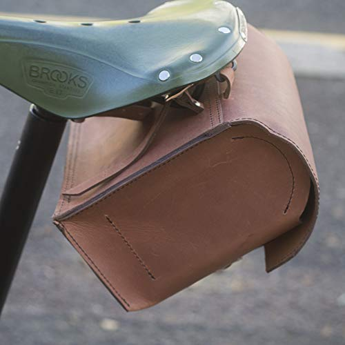 Find Discount London Craftwork Large Bicycle Bag Genuine Leather Saddle Handlebar Frame Bag (Vintage...