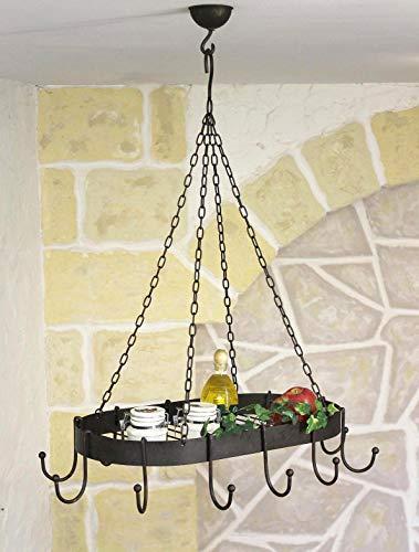 Ambiente Haus 95225 Eisen Topfhänger 57 cm antikbraun