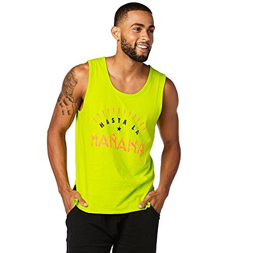 Zumba Fitness Hombre hasta la Manana Reservorio Hombres Tops, Todo el año, Hombre, Color Zumba Green, tamaño Extra-Large