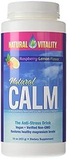 Natural Vitality, Natural Calm, Organic Raspberry-Lemon Flavor, 16 oz (453 g) by Natural Vitality