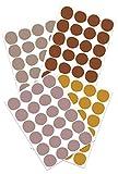 Yabaduu Lot de 96 stickers muraux à pois - 4 couleurs sur 4 feuilles DIN A4 - Pour chambre d'enfant, chambre de bébé - Autocollants (Y043-02 tons de terre)