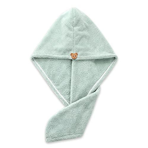 DTKJ Paquete de 3 toallas de secado de pelo de microfibra con botón para mujer, súper absorbente, secado rápido, cuidado del cabello