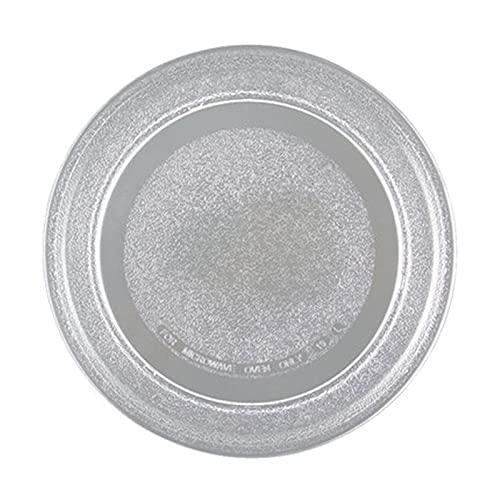 YooSz Horno De Microondas 24,5 Cm Placa De Vidrio Cubierta Plana/Ajuste para Galanz LG Midea, Etc. Microondas para Horno Piezas Accesorios Microondas De Vidrio Bandeja
