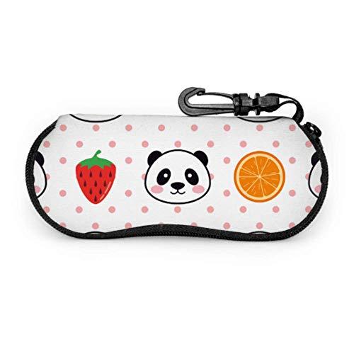 N\A Creativo lindo fruta sandía mascota adolescente caso de gafas gafas de sol para mujeres luz portátil cremallera de neopreno estuche suave estuches de gafas de sol para mujeres