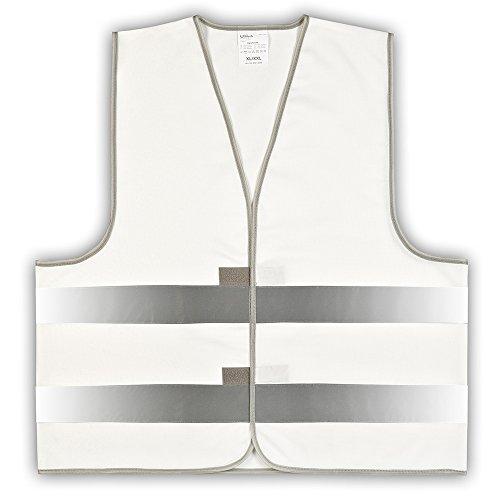 1 Stück easyMesh® Signalweste Warnweste Weiß (Unisize) XL/XXL ohne Druck