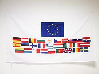 AZ FLAG Bandera de los Union Europea 28 Paises 150x90cm para Palo - Bandera EUROPEANA – UU.EE - Europa 90 x 150 cm