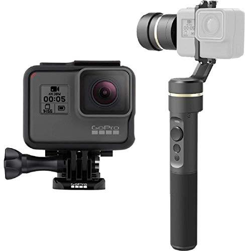 FeiyuTech Compatibile con/Sostituzione pe GoPro HERO3, 4, 5, Yi Cam 4K per AEE e videocamere sportive di grandezza simile Stabilizzatore Gimbal G5 palmare 3 Assi | Splash Proof