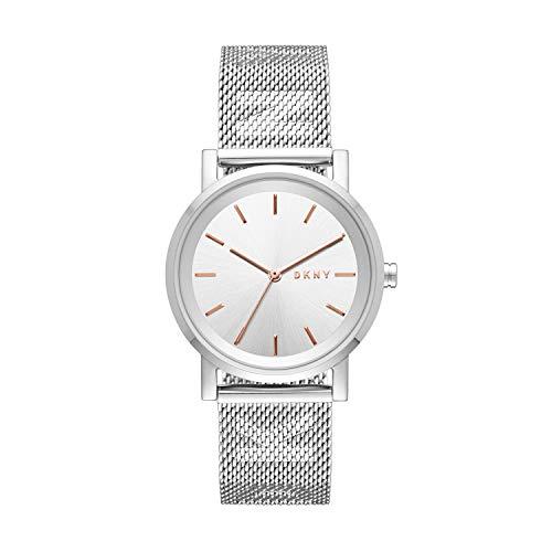 DKNY Damen Analog Quarz Uhr mit Edelstahl Armband NY2620