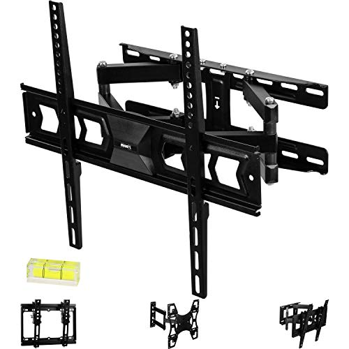 MOUNTY TV MY232 Soporte de Pared para, Giratorio, inclinable, Extensible, Universal, hasta 100 KG, máximo VESA 400x400 mm, Monitor de TV OLED QLED LED Plasma Curved 4K de Pantalla