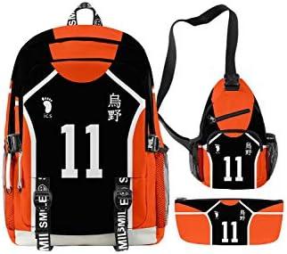 Karasuno Backpack Hinata Shoyo Tsukishima Kei Mini Schoolbag Anime Cosplay Shoulder Bag Set product image
