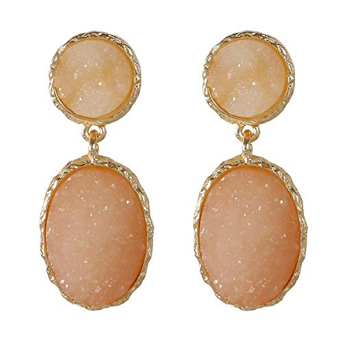 Nuovo design dolce orecchino geometrico acrilico lungo grandi orecchini per le donne 2020 coreano pendente gioielli eleganti pendientes e NA, colore: rosa, cod. KPA7212