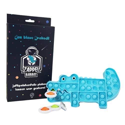 Viwanda ZAPPELBABBEL Coccodrillo blu | Set sensoriale Fidget giocattolo antistress giocattolo antistress antistress antistress giocattolo antistress idea regalo