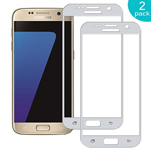 Sangrl [2 Unidades Completa Full Screen Vidrio Templado para Samsung Galaxy S7 (5.1