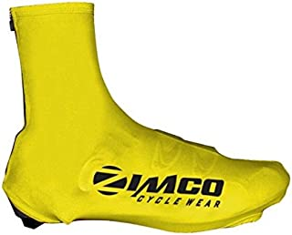 Zimco Lycra Cycling Bicycle Shoe Cover Booties Overshoes with Rear Zipper Yellow