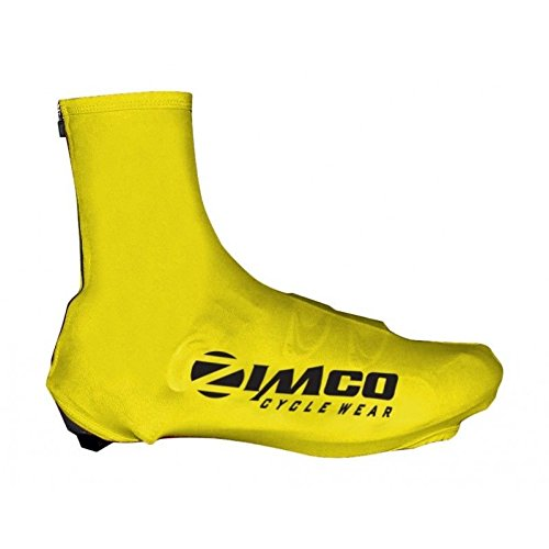 Zimco Lycra Cycling Bicycle Shoe Cover Booties Overshoes with Rear Zipper Yellow (Medium)