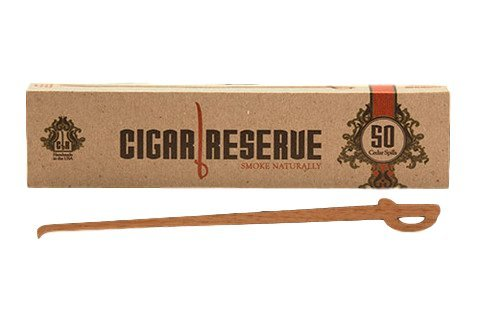 50 Spanish Cedar Spills by Cigar Reserve The Original & Genuine Wood Strips for Cigars Lighting Lighter