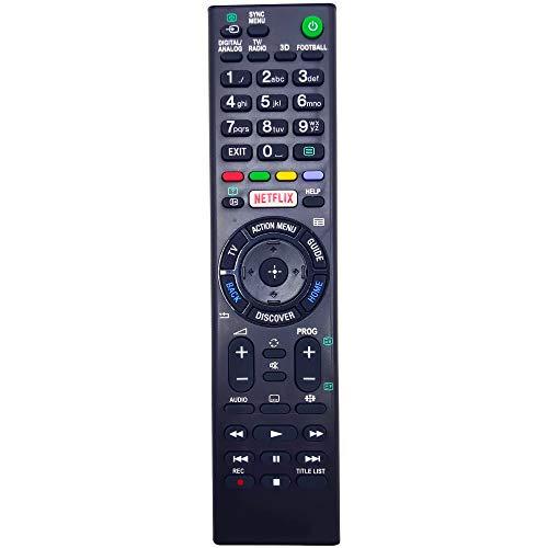 Leankle Fernbedienung RMT-TX100D für Sony Fernseher KDL-50W805C, KDL-50W807C, KDL-50W808C, KDL-50W809C, KDL-55W755C, KDL-55W756C, KDL-55W805C, KDL-55W807C, KDL-55W808C, KDL-55W809C, KDL-65W855C