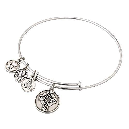 Celtic Cross Sliver tone bracelet - Allergy safe