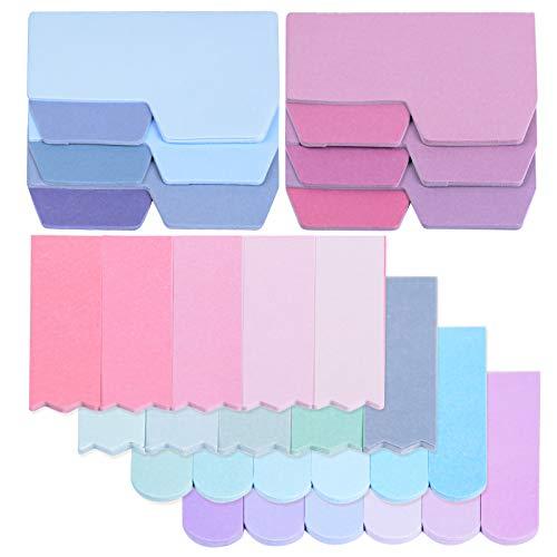 6 Set Index Tabs Kleber Schöne Einfarbige Aufkleber 560 Seiten Packung mit 3 Arten Aufkleber