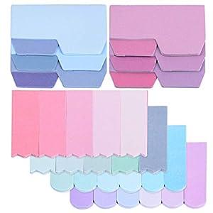 6pack 560pcs Marcadores Adhesivos Notas Autoadhesivas Indices de Página Colores Etiquetas de Escribir para Marcar Hojas…