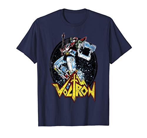 Voltron Retro Defender Colorful Fight Sword T-Shirt