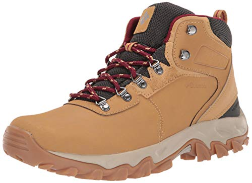 Columbia Men's Newton Ridge Plus II Waterproof Hiking Shoe, Curry, red Jasper, 9.5 Regular US