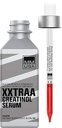 MMUSA XXTRAA Up Your Lifting Game with a Bodybuilding Pre-Workout Serum Containing Liquid Creatinol and Taurine. Build Strength and Endurance Anti-Inflammatory Supplement for Weightlifting.