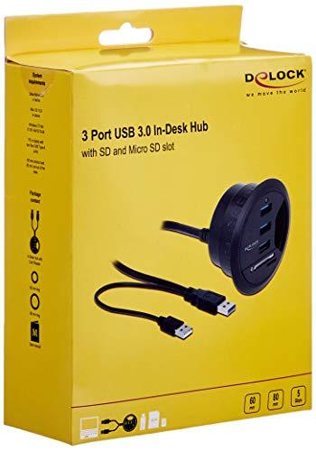 DeLOCK 62869 hub & concentrateur USB 3.0 (3.1 Gen 1) Type-A 5000 Mbit/s Noir - Hubs & concentrateurs (USB 3.0 (3.1 Gen 1) Type-A, USB 3.0 (3.1 Gen 1) Type-A, 5000 Mbit/s, Noir, 0,95 m, USB)