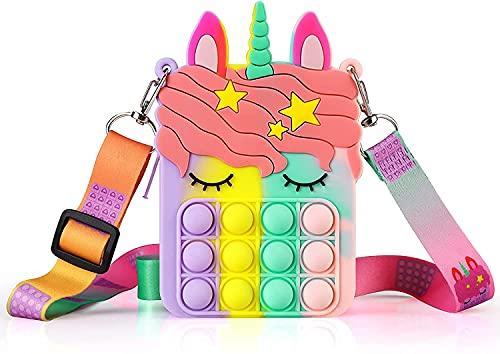 Pop Bolso it, Fidget Toy Antiestres Niño, Pop Barato it,Pop Unicornio it para juegos familiares Ansiedad Adultos y niños Autismo Stress Reliever Squeeze Tools
