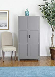 "The Carver Storage Cabinet provides amazing storage options to help you keep your home organized Storage Cabinet dimensions – 31.5"" W x 15.4"" D x 64.2"" H 