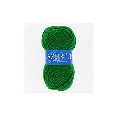 les colis noirs lcn Pelote de Laine Azurite 100% Acrylique Tricot Crochet Tricoter - Vert Sapin - 0338