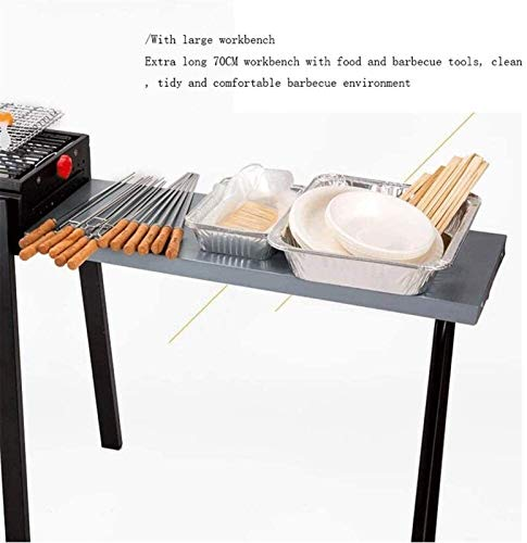 41ImZI83obL - JJSFJH Charcoal Grill Premium-Holzkohlegrill aus Gusseisen Grill Große Picknick Patio Grill Barbecue Folding Tragbarer Grill-Holzkohle Full Set 5 Personen Grill Heim Barbecue Folding